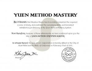Certified Yuen Method Master